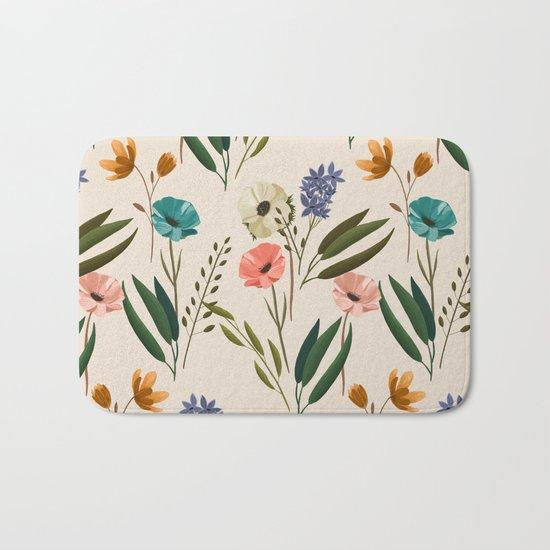 Floral 247 Cream Bath Mat