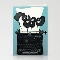 typewriter Stationery Cards featuring Typewriter by Felix Hornoiu