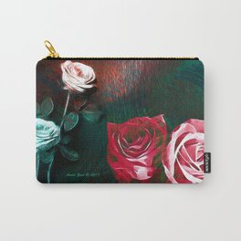Roses Digital Art By Annie Zeno Carry-All Pouch