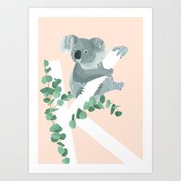 K - Koala Art Print