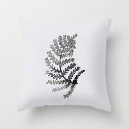 Baesic Mono Floral (Leaf 4) Throw Pillow