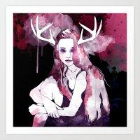 Purple Dress Art Print