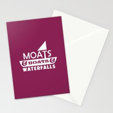 Moats and Boats and Waterfalls Graphic Stationery Cards