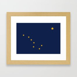 State flag of Alaska - Authentic version Framed Art Print