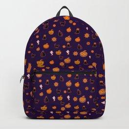Spooky Halloween Black Cat Pattern Backpack