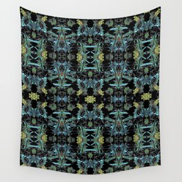 Fractal Floral Print Pattern Wall Tapestry