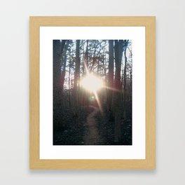 Towards the light. Framed Art Print