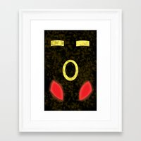 umbreon Framed Art Prints featuring Umbreon - Minimalist Pokemon by Sarah C