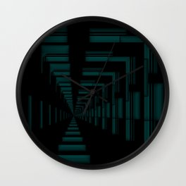 Teal Passage Wall Clock