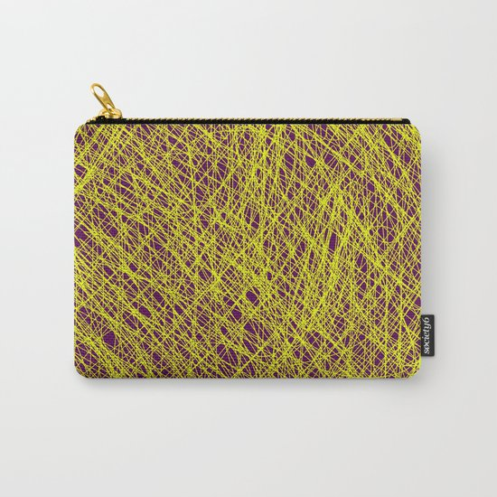 Expressive Yellow (Abstract, purple and yellow) Carry-All Pouch
