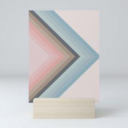 Pastel Pyramids Mini Art Print