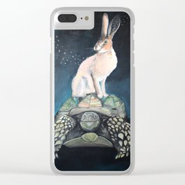Midnight Tortoise and Hare Clear iPhone Case