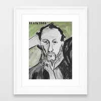 writer Framed Art Prints featuring Writer by black door