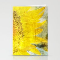 sunflower Stationery Cards featuring Sunflower by Maria Heyens