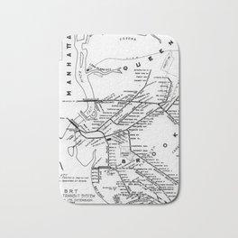 Vintage Map - New York Brooklyn–Manhattan Transit Corporation Route Map (1912) Bath Mat