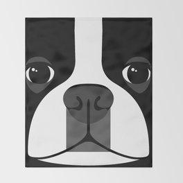 Boston Terrier Close Up Throw Blanket
