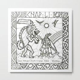 Ragnarök - Edda Metal Print