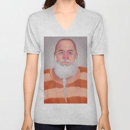 Mugshot Santa Claus Unisex V-Neck