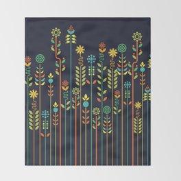 Overgrown flowers Throw Blanket