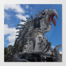 Mastodonte place de la République Canvas Print