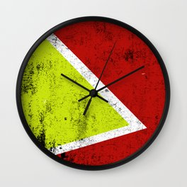 Rusty abstract art Wall Clock