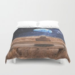 PLANET EARTH, THE UNIVERSE AND I Duvet Cover