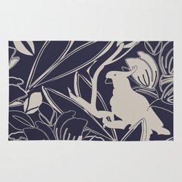 Cockatoo Evening Blue Rug