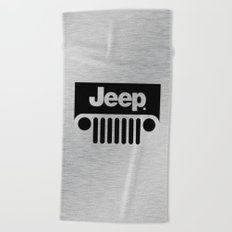 Jeep Steel Chrome Beach Towel