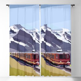 Geometric Jungfraujoch railway, Bernese Alps, Switzerland Blackout Curtain