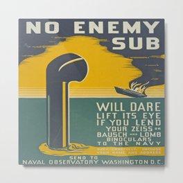 Vintage Navy Poster Metal Print