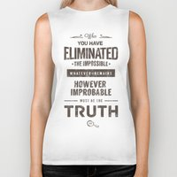 quotes Biker Tanks featuring Detective Quotes by CHOCOMINT GEEK