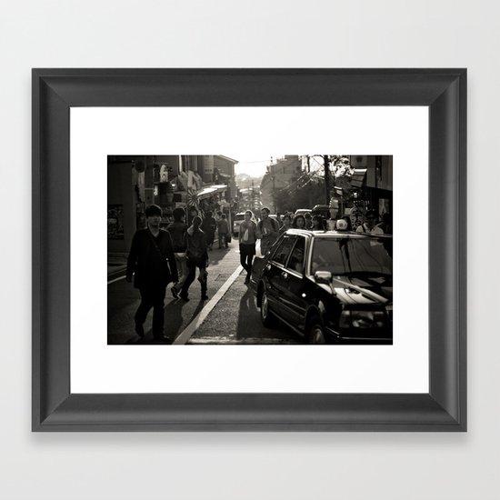 Streets of Kiyomizu Temple, Kyoto Framed Art Print