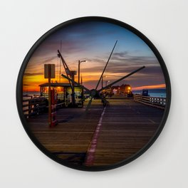 Sunrise on the Pier Avila Beach California Wall Clock