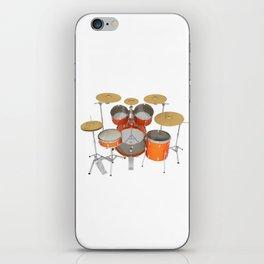 Orange Drum Kit iPhone Skin