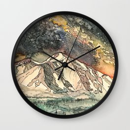 Mount Sopris and the Galaxy Wall Clock