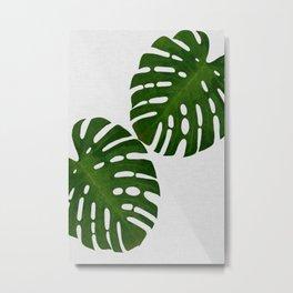 Monstera Leaf II Metal Print