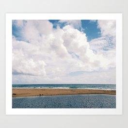 streaming to sea Art Print