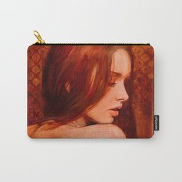 Nude Woman With Red Hair Carry-All Pouch