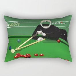 Corky's playing snooker Rectangular Pillow