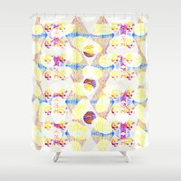 scales Shower Curtains featuring Scales by Rachel Clore