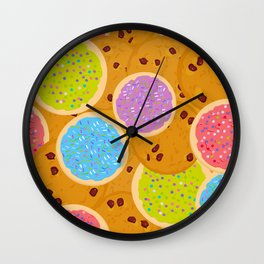 Frosted sugar cookies, Chocolate chip cookie, Italian Freshly baked sugar cookies Wall Clock