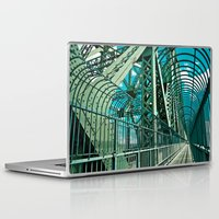 montreal Laptop & iPad Skins featuring Montreal | Bridge by Simon Laroche