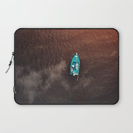 A boat on the ocean Laptop Sleeve
