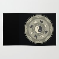 yin yang Area & Throw Rugs featuring Yin Yang by TypicalArtGuy