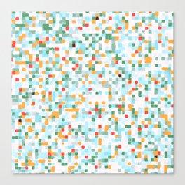 handmade coloured squares Canvas Print