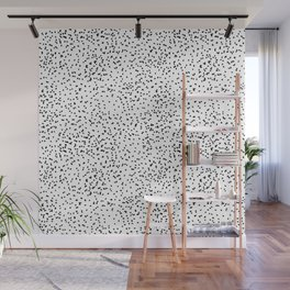 Black and white dots Wall Mural