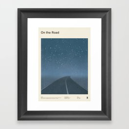 "Jack Kerouac ""On the Road"" - Minimalist literary art design, bookish gift Framed Art Print"