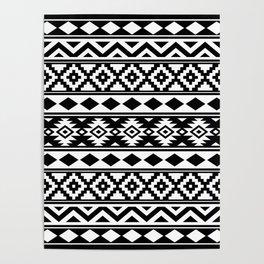Aztec Essence IIIb Ptn White & Black Poster