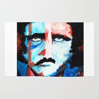 poe Area & Throw Rugs featuring Poe by J. John Whitmore