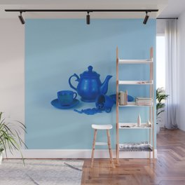 Blue tea party madness - still life Wall Mural